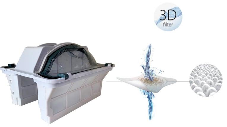 Filtro Top Acces Easy Open 3D de los limpiafondos M7 y M12 de Astralpool
