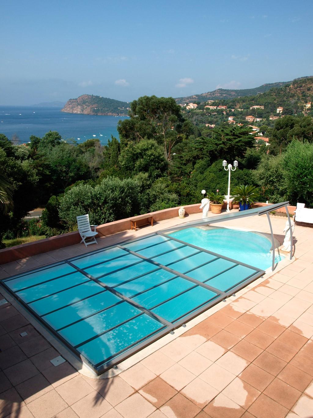 Cubierta de piscina plana amovible abrisud piscinas ferromar for Piscinas ferromar