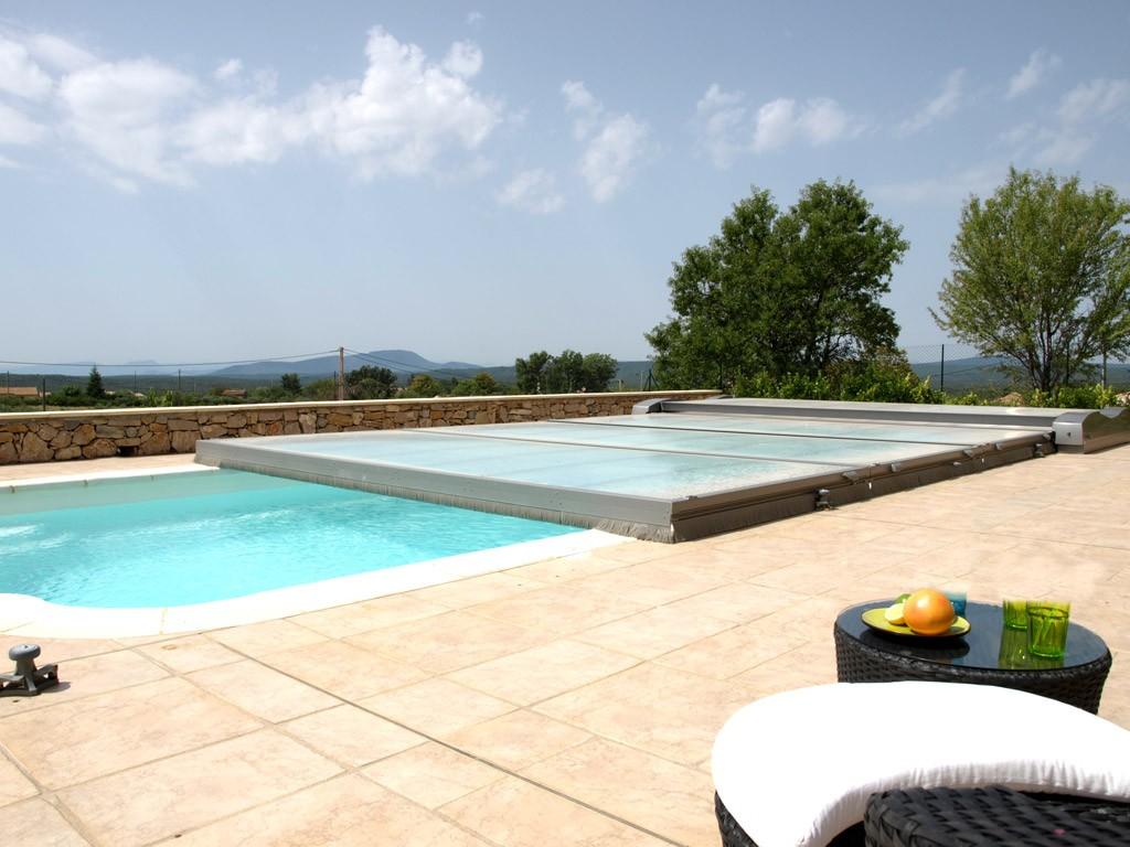 Cubierta de piscina plana motorizada abrisud piscinas for Piscinas ferromar
