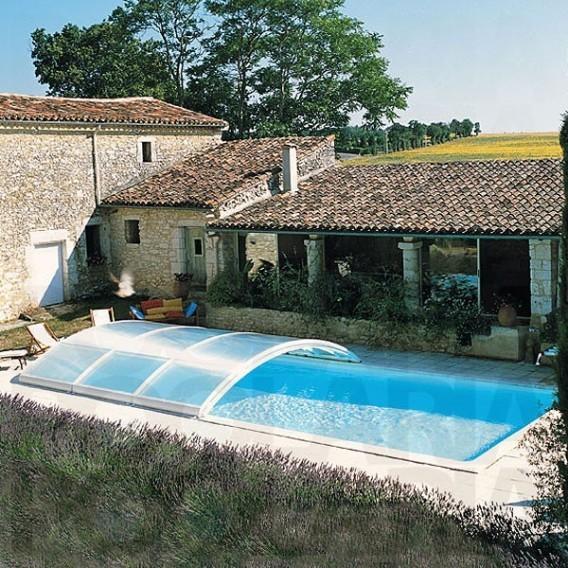 Cubierta de piscina semicorredera abrisud piscinas ferromar for Piscinas ferromar