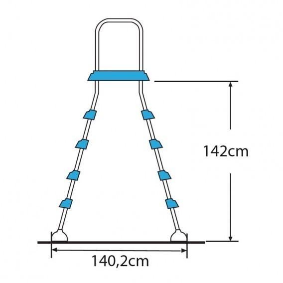 Escalera acero inox para piscina desmontable gre ar11680 for Piscina acero inoxidable precio