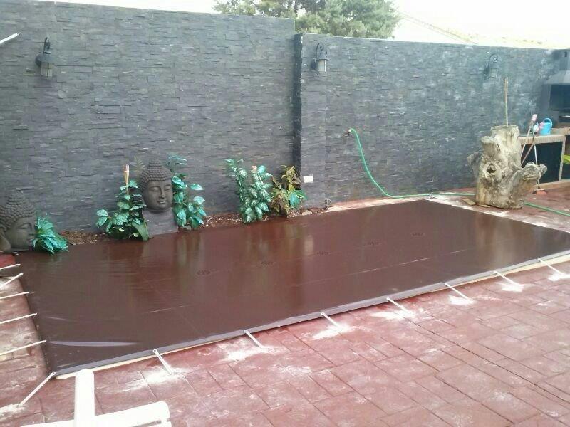 Cobertor seguridad invierno premium marron piscinas ferromar for Piscinas ferromar