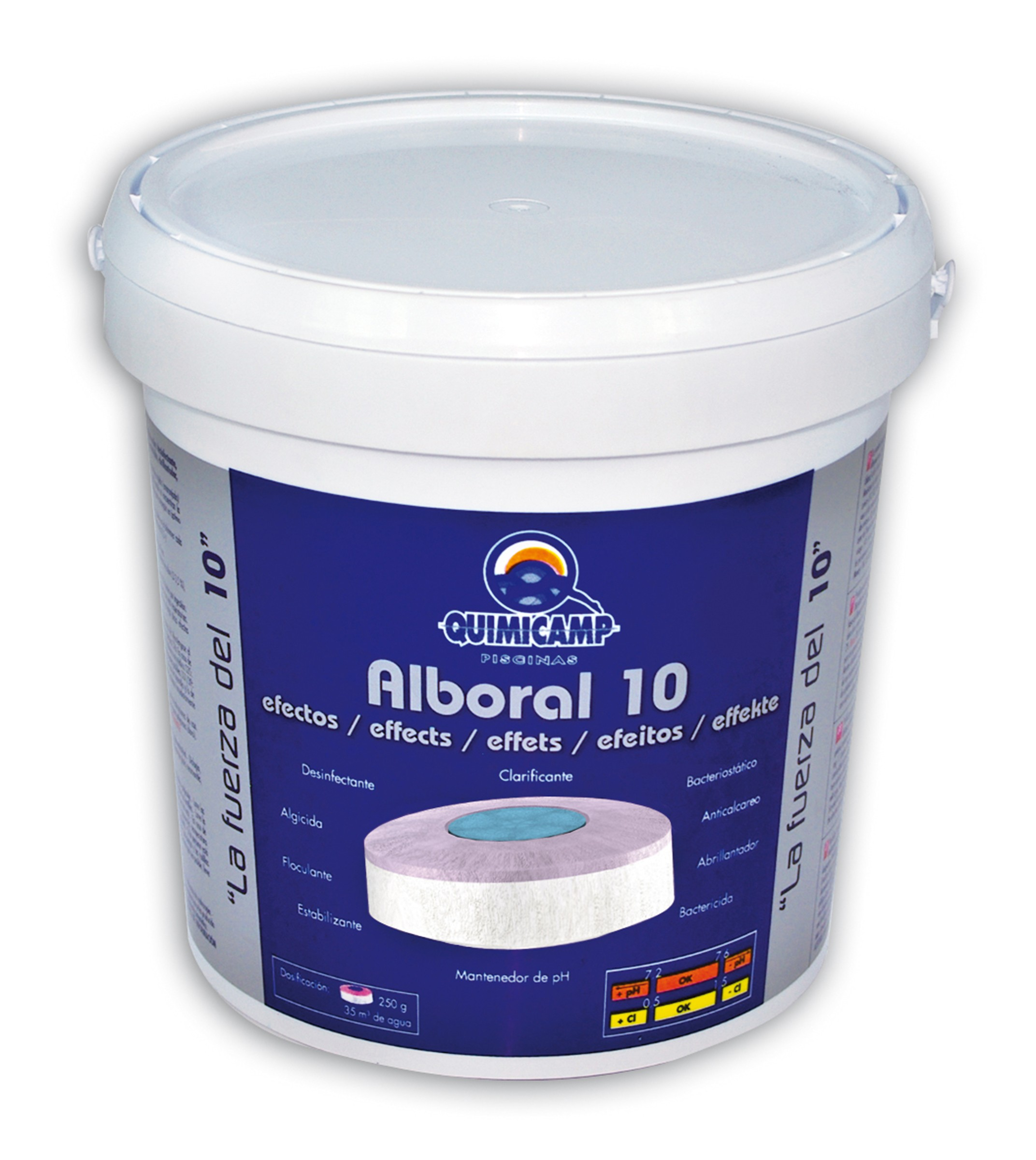Quimicamp alboral tabletas 10 efectos piscinas ferromar for Quimicamp piscinas