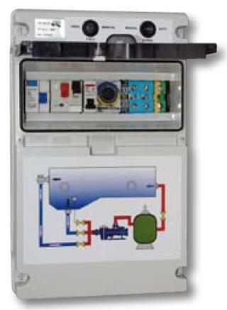 Qp cuadro el ctrico para bomba 1 foco piscinas ferromar for Reloj programador piscina precio