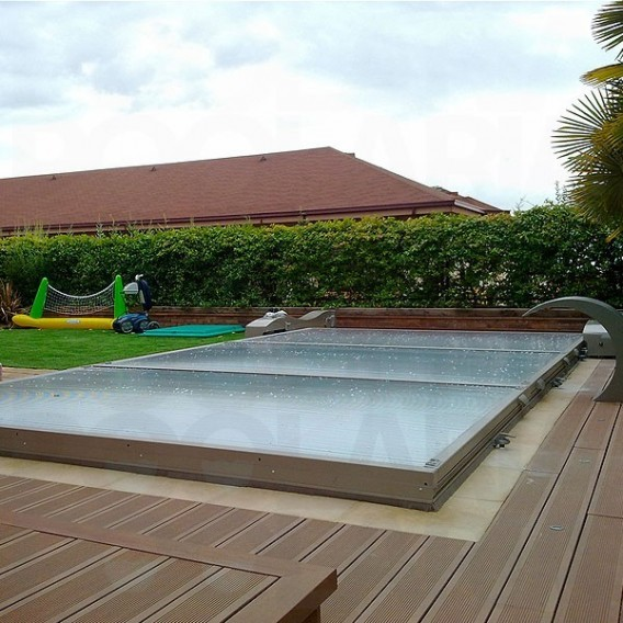 Cubierta de piscina plana motorizada abrisud piscinas Cubierta piscina precio