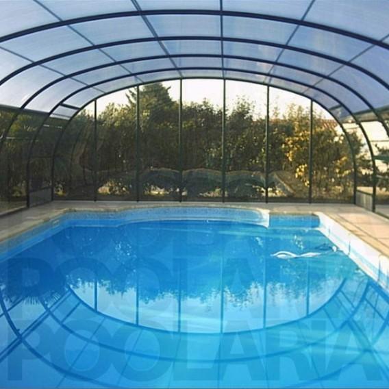 Cubiertas de piscina altas curvas abrisud piscinas ferromar for Piscinas desmontables altas