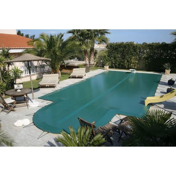 Cobertor seguridad invierno premium verde piscinas ferromar for Piscinas ferromar