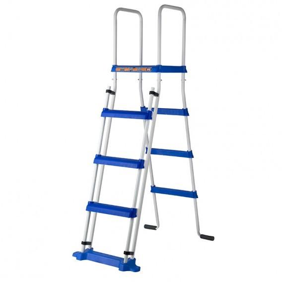 Escalera de seguridad con plataforma gre es1150 piscinas for Escalera piscina gre