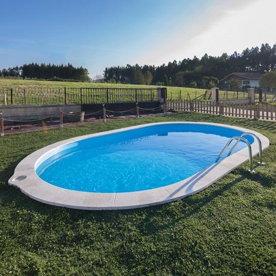Piscina enterrada gre ovalada sumatra piscinas for Piscinas ferromar