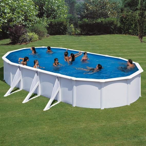 Piscina desmontable gre ovalada fidji blanco piscinas ferromar - Piscina desmontable acero ...