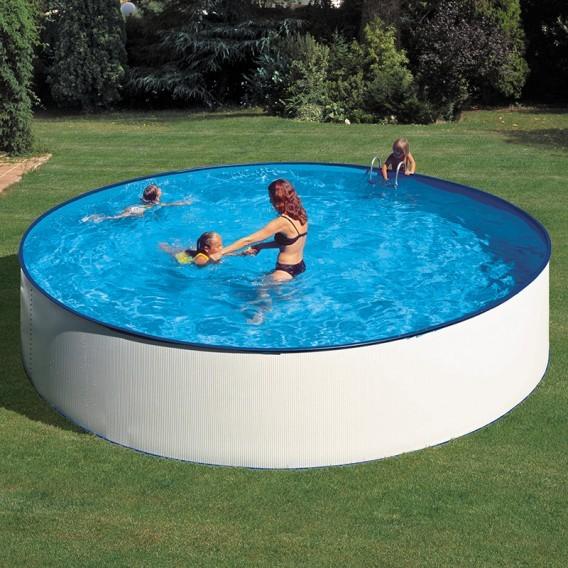 Piscina acero blanco gre redonda lanzarote piscinas ferromar - Precios de piscinas desmontables ...