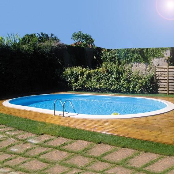 Piscina enterrada gre ovalada madagascar piscinas for Piscinas gre precios