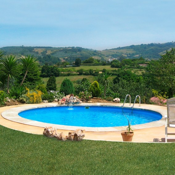 Piscina enterrada gre redonda madagascar piscinas ferromar for Piscinas ferromar