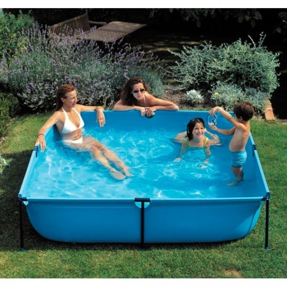 Piscina desmontable cuadrada for Piscina hinchable cuadrada