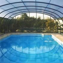 Cubiertas de piscina altas curvas Abrisud