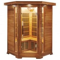 Sauna infrarrojos Luxe Rinconera 2-3 personas France Sauna