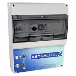 Armario maniobra 1 bomba y control iluminación transformador 300W AstralPool