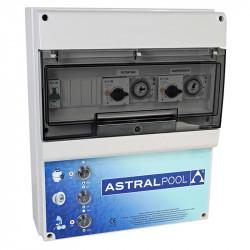 Armario maniobra 2 bombas y control iluminación transformador 300W AstralPool