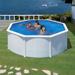Piscina circular acero blanco Wet con Depuradora Arena