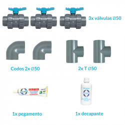 Kit By Pass para conectar la bomba de calor Poolex