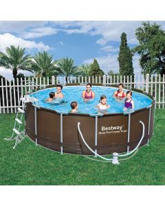 Piscina Tubular Redonda Bestway Power Steel Rattan