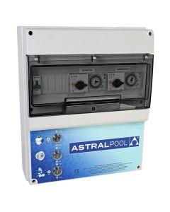 Armario maniobra 2 bombas y control iluminación transformador 600W AstralPool