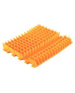 Cepillo combinado Dolphin PVC naranja medio sin anillo 6101647