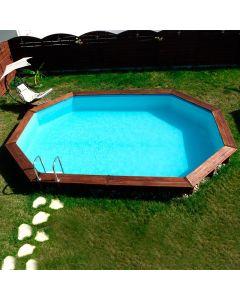 Piscina de madera Sunbay Camomille ovalada 620x395x127 Gre