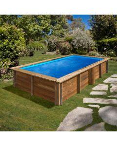 Piscina de madera Sunbay Lemon rectangular 375x200x68 Gre