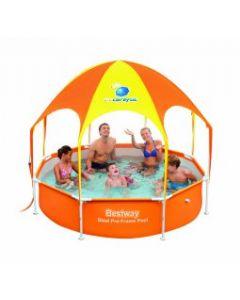 Piscina Infantil Desmontable Tubular con Parasol Bestway Splash-In-Shade
