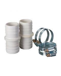 2 Conectores de unión manguera + abrazaderas Gre AR509