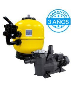 Pack Filtración con Filtro Victoria y Bomba Victoria Plus de Astralpool con 3 años de garantía