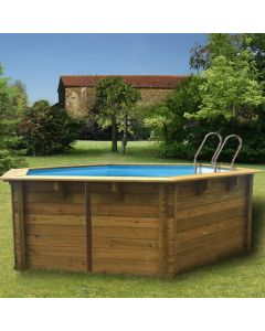 Piscina desmontable madera Gre hexagonal