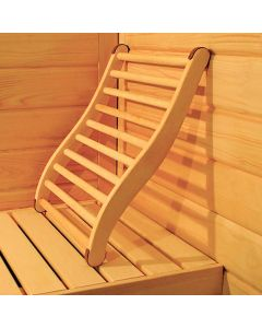 Respaldo para sauna
