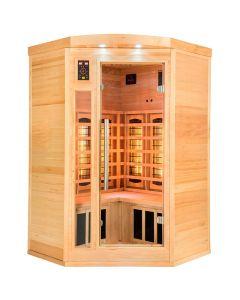 Sauna infrarrojos Apollon Quartz rinconera 2-3 personas France Sauna