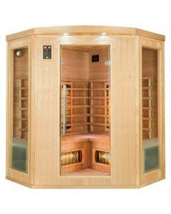 Sauna infrarrojos Apollon Quartz rinconera 3-4 personas France Sauna