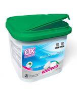 Cloro multiacción en tabletas de 250 g con función desinfectante, alguicida y floculante CTX-392