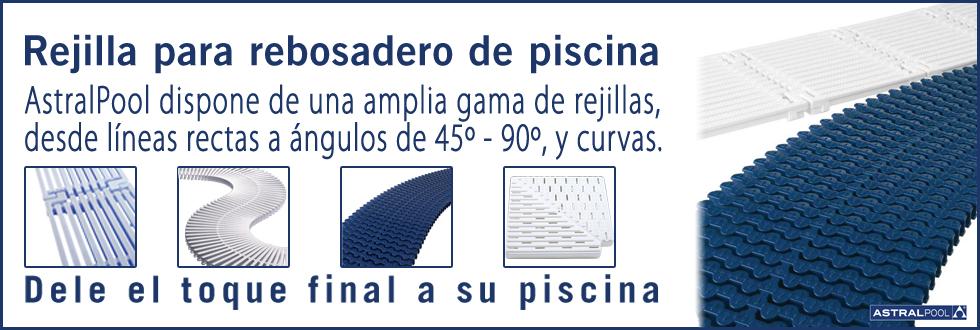 Rejillas rebosadero piscina material vaso piscina for Rejilla piscina