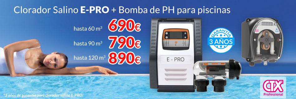 Clorador Salino EPRO + Bomba de PH