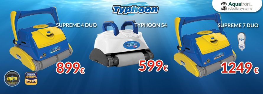 Nueva Gama de Limpiafondos Typhoon 2016
