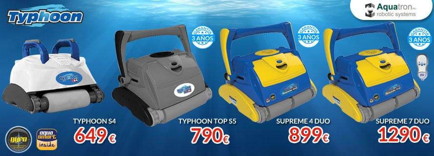 Nueva gama 2017 de Limpiafondos Typhoon