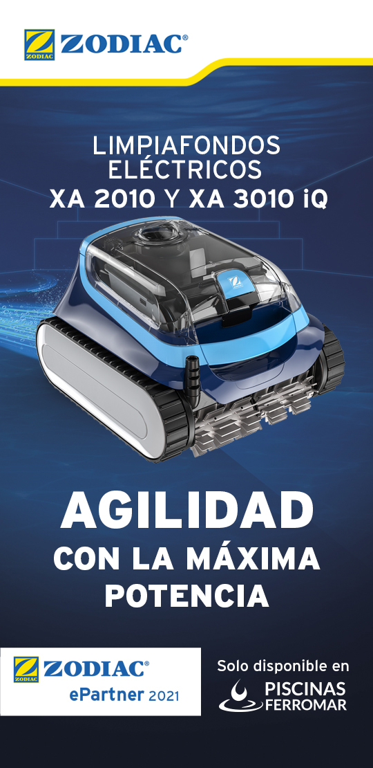 Nueva serie XA de limpiafondos Zodiac en exclusiva en piscinas ferromar