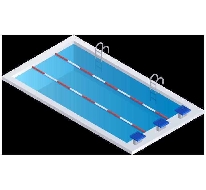 Accesorios de Piscinas, Material de Competición